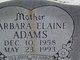 Profile photo:  Barbara Elaine <I>Gunter</I> Adams