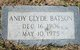 Profile photo:  Andy Clyde Batson