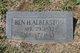 "Profile photo:  Benjamin Harrison ""Ben"" Alberston"