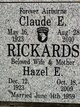 Profile photo:  Hazel E <I>Demmon</I> Rickards