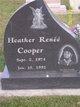 Profile photo:  Heather Renee Cooper