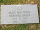 "Profile photo:  Alice Irene ""Bo"" <I>Herring</I> Baker"