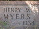 Henry M Myers