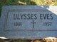 """Ulyssus Grant """"Ulie"""" Eves"""