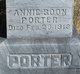 Profile photo:  Annie <I>Boon</I> Porter