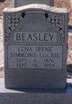 Lena Irene Luckie <I>Simmons</I> Beasley