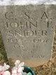 Profile photo:  John T. Snyder