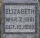 Elizabeth <I>Dawson</I> Bennett