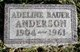 Adeline <I>Bauer</I> Anderson