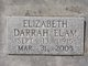 Elizabeth Arzilla <I>Darrah</I> Elam