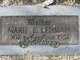 Profile photo:  Marie Eleanor <I>Boyer</I> Barker/Lehman