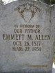 Profile photo:  Emmett M. Allen