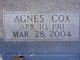 Profile photo:  Agnes <I>Cox</I> Burns