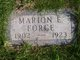 Profile photo:  Marion Emory Force