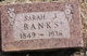 "Sarah Josephine ""Finnie"" <I>McMillan</I> Banks"
