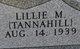 Profile photo:  Lillie M. <I>Tannahill</I> Gillis