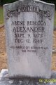 Profile photo:  Arene Rebecca <I>Jacobs</I> Alexander