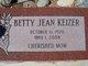 Profile photo:  Betty Jean <I>Little</I> Keizer