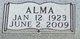 Alma <I>Mink</I> Adams