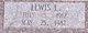 Lewis L <I> </I> Adams,