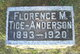 Profile photo:  Florence May <I>Tice</I> Anderson