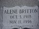Profile photo:  Alene <I>Britton</I> Baker