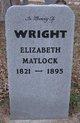 Elizabeth <I>Matlock</I> Wright
