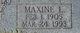 Profile photo:  Maxine Lorraine <I>Dawson</I> Hudspeth