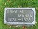 Profile photo:  Anna M <I>Hanson</I> Mahan