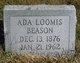 Profile photo:  Ada L. <I>Loomis</I> Beason