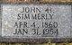 """John Henry """"Dink"""" Simmerly"""