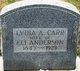 Lydia Ann <I>Carr</I> Anderson