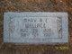 Mary Ann Elizabeth <I>Mathias</I> Wallace