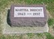 Martha Sophia <I>Shrader</I> Brecht