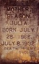 Julia <I>Pesnell</I> Beason