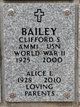 "Profile photo:  Clifford Samuel ""Cliff"" Bailey"