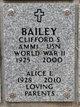 Profile photo:  Alice L. <I>Stoor</I> Bailey