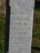 Elizabeth <I>Cowan</I> Vinson