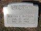 Profile photo:  Bertha <I>Cheshire</I> Batson