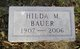 Hilda M Bauer