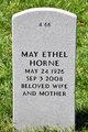 Profile photo:  May Ethel Horne
