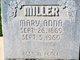 Mary Anna Miller