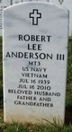 "Profile photo:  Robert Lee ""Bob"" Anderson, III"