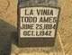 "LaVinia Belle ""Vennie"" <I>Todd</I> Ames"
