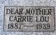 Profile photo:  Carrie Lou <I>Gallaher</I> Butterton
