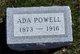 Profile photo:  Ada <I>Day</I> Powell
