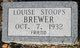 Louise <I>Stoops</I> Brewer