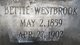 "Profile photo:  Elizabeth Eugenia ""Bettie Jean"" <I>Westbrook</I> Conner"