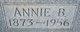 Profile photo:  Annie B <I>Henley</I> Awtrey
