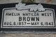 Matilda <I>West</I> Brown